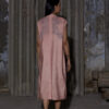 HEIMAT_PANELED HIGHNECK DRAWSTRING DRESS WASHED BRICK_4