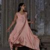 HEIMAT_SHEATH OVERLAY DRESS WASHED BRICK_4