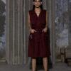 HEIMAT_TRENCH DRESS JAMUN_1